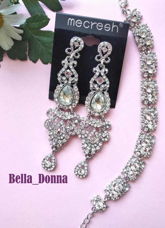57869b92dc24 Безупречный комплект серебро (серьги люстры и браслет) за 235 грн. | Шафа
