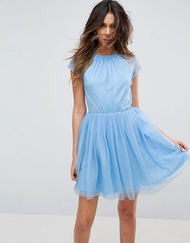 Сукня міні з мережива і тюлю asos premium ASOS 82601124bcd26