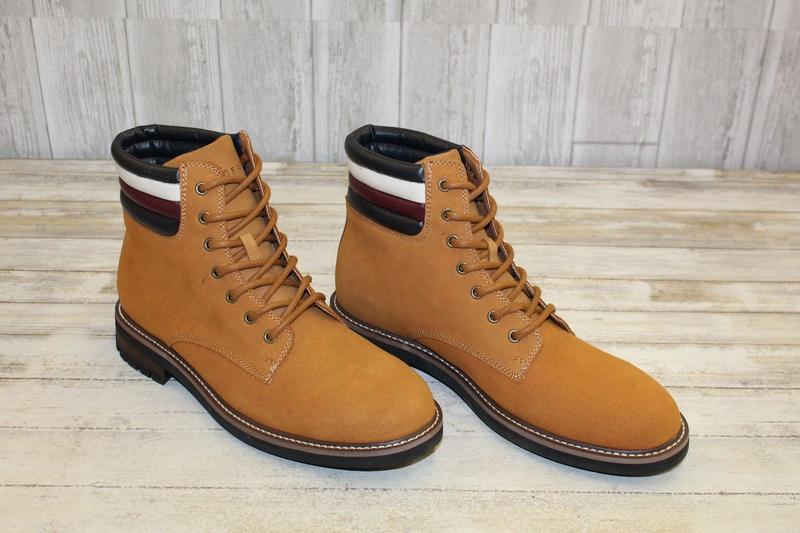 tommy hilfiger новые оригинал кожаные ботинки кроссовки размер 41 ( по  стельке 26 см ) ... 2b917f03e26df