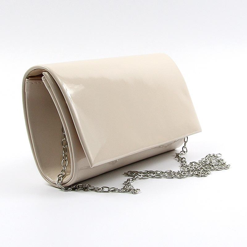 4869cbffe35c Бежевая лаковая вечерняя маленькая сумка-клатч через плечо Rose ...