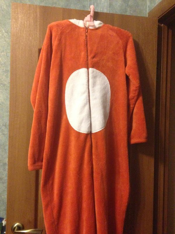 Love to lounge человечек кигуруми слип костюм пижама комбинезон лисенок  р.6-8 xs ... 13f4d77a0dce8
