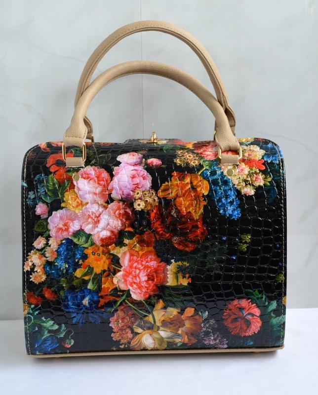 Шикарная сумка luck sherrys с оригинальным цветочным принтом в стиле а ля  рус1 ... 485ac9aa6c8