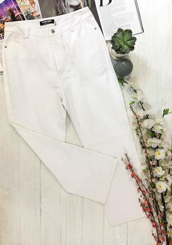 Білі джинси з плотного деніму від англійського бренду fushion union1 ... 8bf32cd1caacc