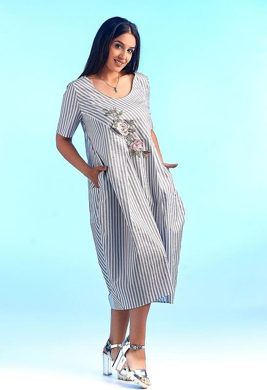 bf133ecb7d555f9 Платье женское легкое летнее натуральное большие размеры 50-62, цена ...