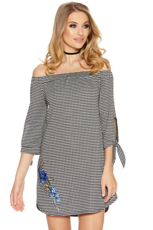 4dba6e0621f4 Платье туника quiz в клетку размер с чёрный белый, цена - 120 грн ...