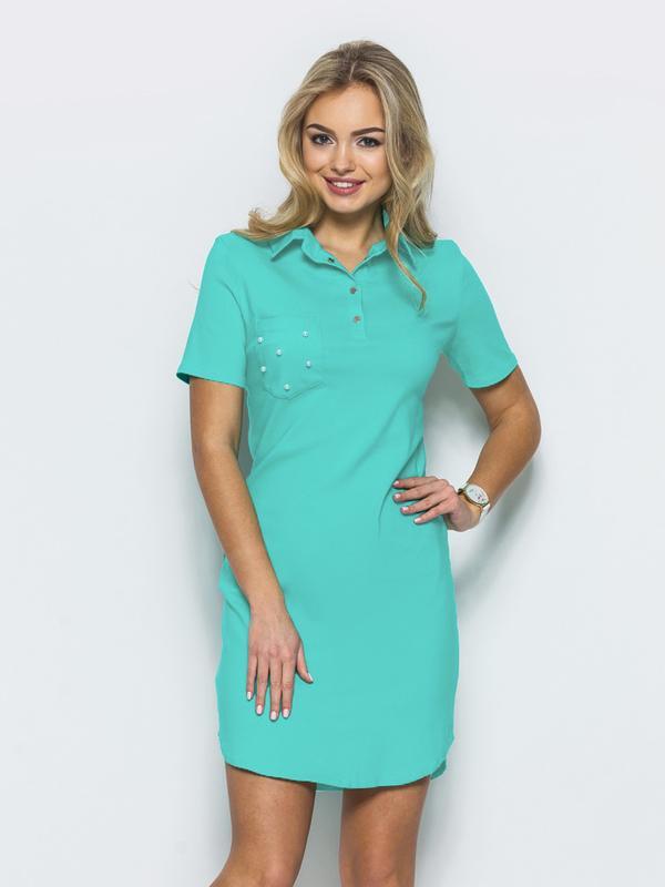 0c88b6212 Женское мятное платье поло, большой размер 54, цена - 460 грн ...