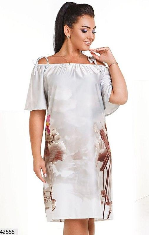 5c9c71322572df7 Шикарное женское летнее платье больших размеров:50-52, 54-561 фото ...