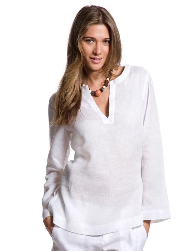 70ca6372eaf6 Летняя рубашка   льняная туника (лён + хлопок) от любимого бренда -  пляжная1 ...