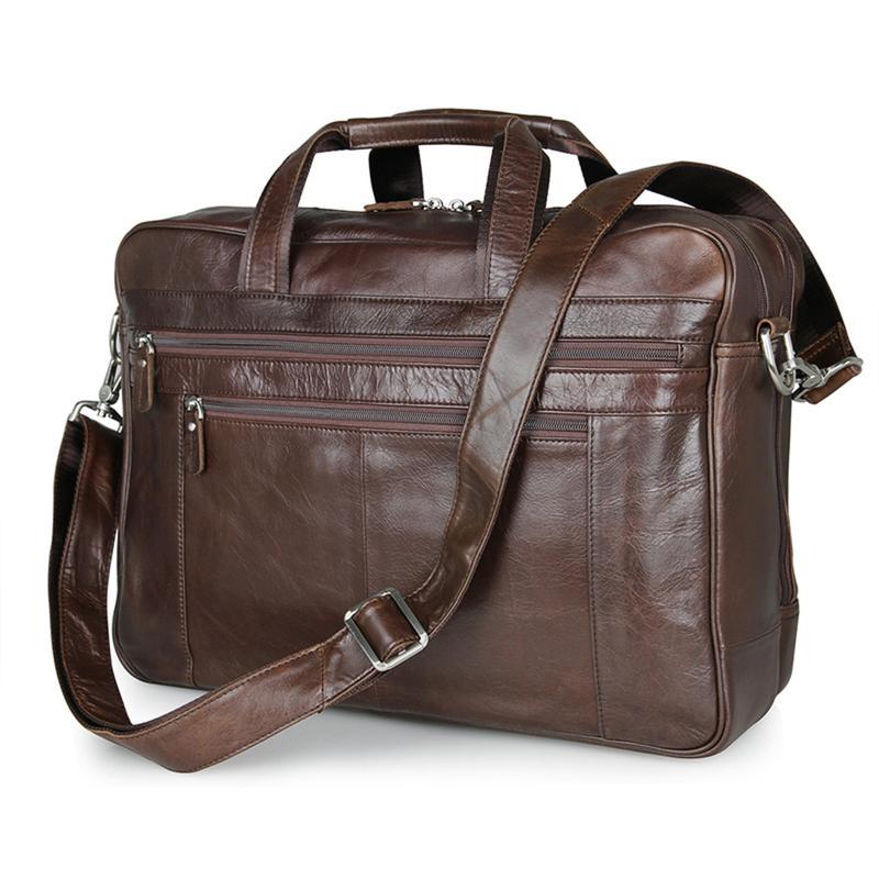 a9495c7d8b3e Мужская кожаная вместительная деловая офисная дорожная коричневая сумка  handmade1 фото ...