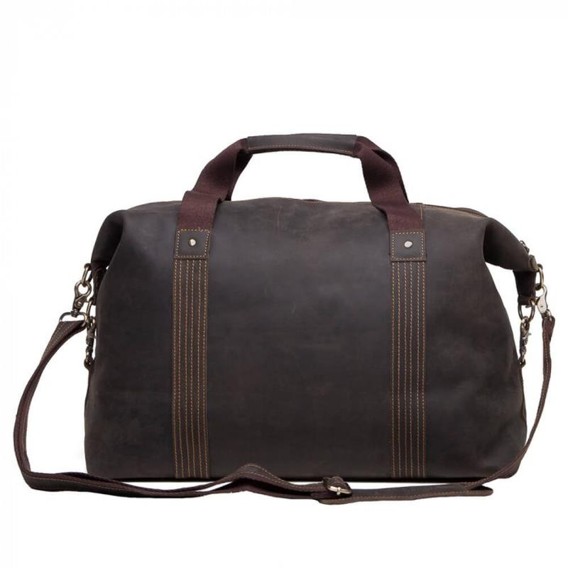 2513f05a4a62 ... Кожаная мужская вместительная сasual винтаж дорожная сумка коричневая  handmade4 фото ...