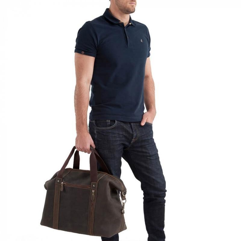 8143f98cf521 ... Кожаная мужская вместительная сasual винтаж дорожная сумка коричневая  handmade2 фото ...