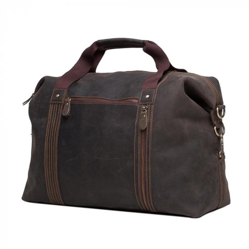 576c08825bac ... Кожаная мужская вместительная сasual винтаж дорожная сумка коричневая  handmade3 фото ...