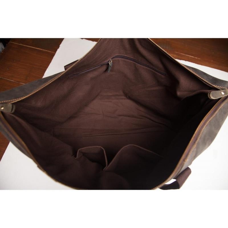 32e7468e3561 ... Кожаная мужская вместительная сasual винтаж дорожная сумка коричневая  handmade5 фото