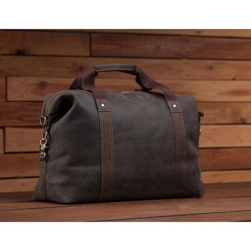 e5e31e05d1cf Кожаная мужская вместительная сasual винтаж дорожная сумка коричневая  handmade1 фото ...