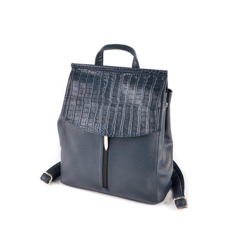 ba9ddbd8f77a Синяя сумка рюкзак трансформер через плечо с крокодиловым клапаном1 фото ...