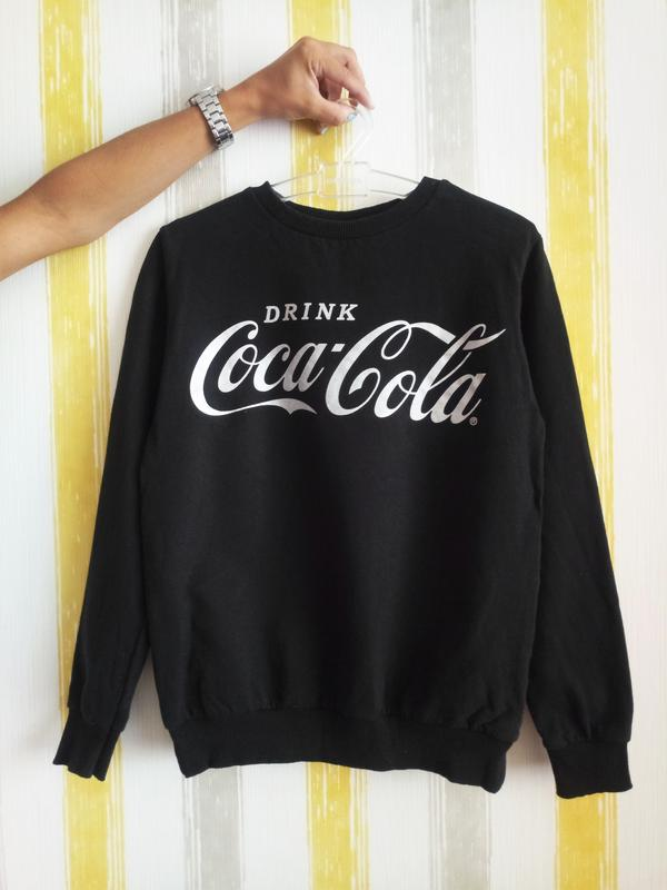 Свитшот кока кола купить колонка банка coca cola