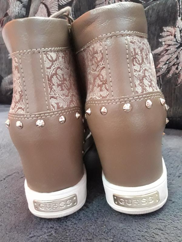 Guess фирма оригинал кожа ботинки сникерсы кеды Guess 9874fd842a824