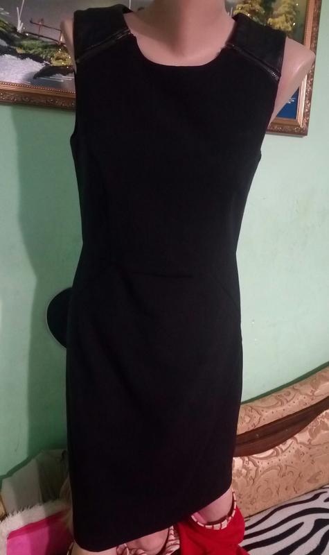 Стильне плаття з шкіряними вставками 8-10 розмір1 ... 3ef7d63236e83