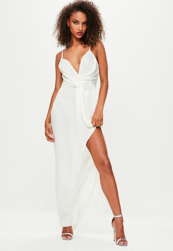 8e39912d4b1 Шикарное легкое летнее вечернее платье макси на бретельках с разрезом  missguided1 фото ...