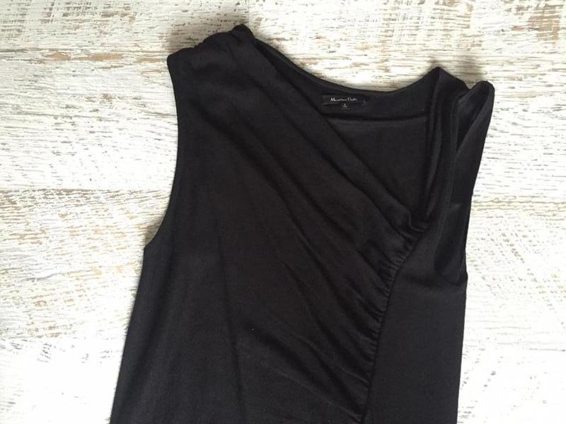 Черное платье от massimo dutti