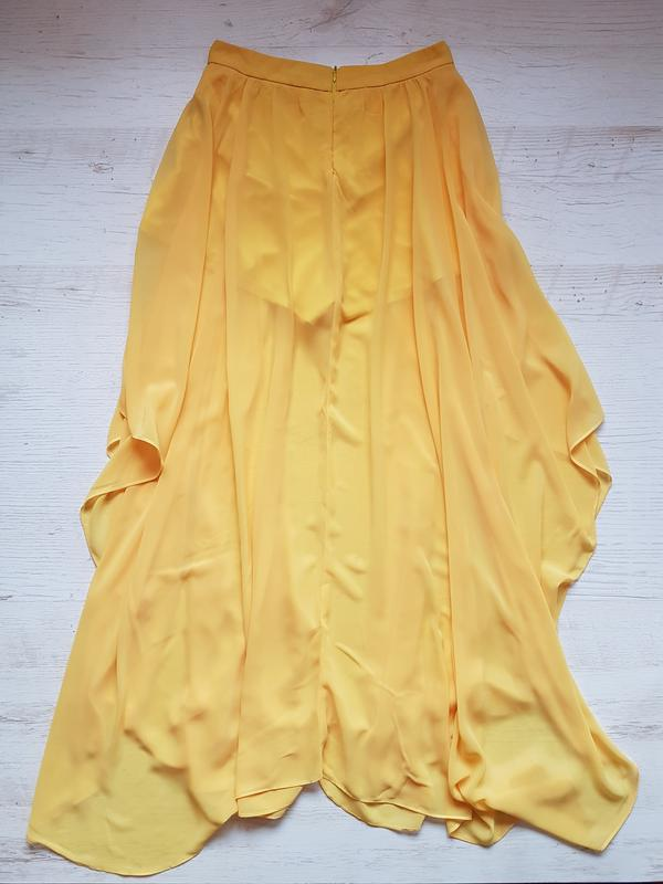 19e7bef6882 Шикарная желтая юбка-шорты