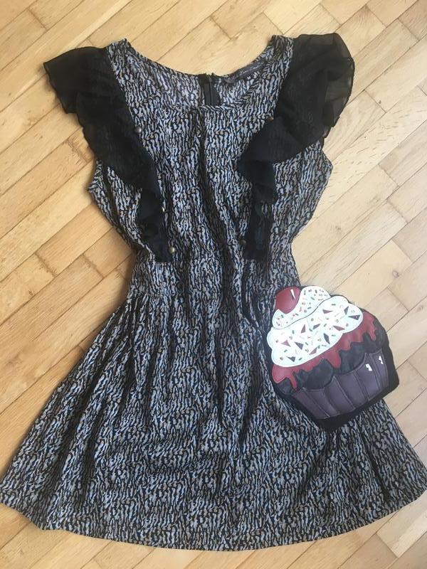 8161d214cd95e19 Короткое мини платье с рюшами воланами mela loves london, цена - 150 ...