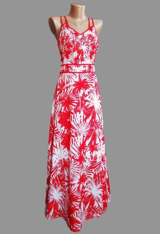 a1013a59431 Яркий сарафан платье в пол принт пальмы Atmosphere