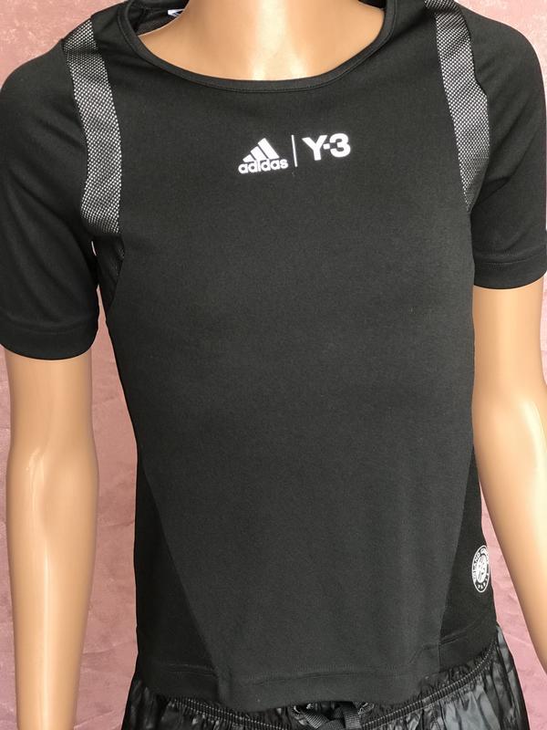 a4845b5bf9d Black спортивная футболка adidas roland garros y-3 оригинал xs1 фото ...