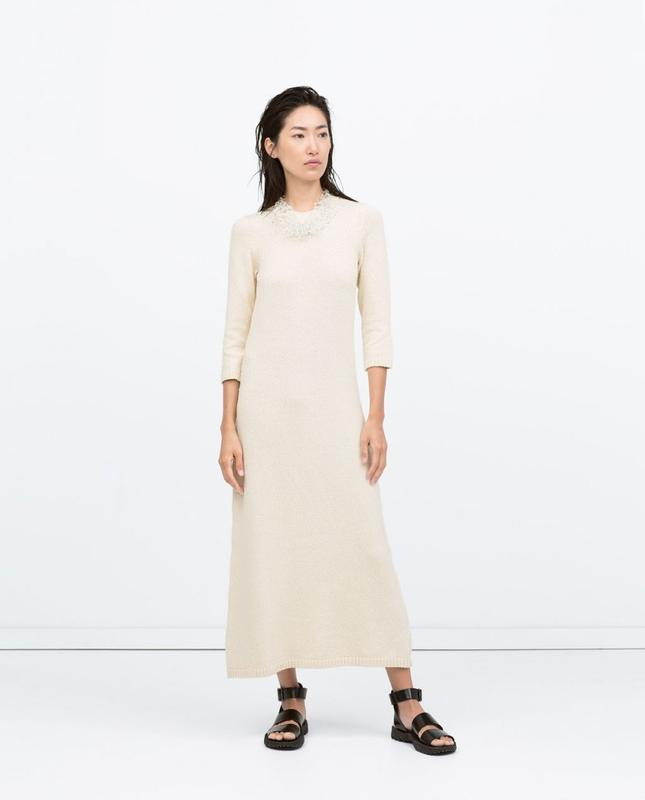 длинное вязаное платье Zara размер L Zara цена 720 грн 14013924