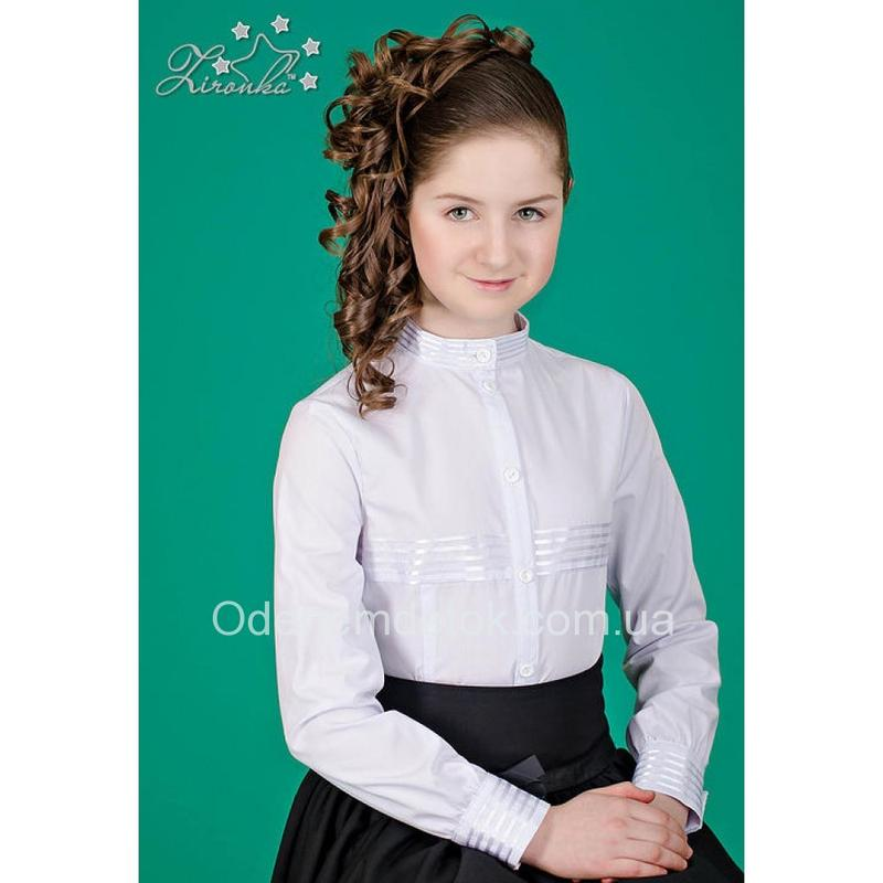 e41e3cab27f Блуза белая для школьницы тм зиронька р.122