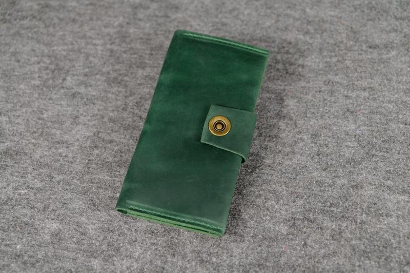 532e4cb78e66 Кожа. ручная работа. кожаный зеленый женский кошелек, портмоне, клатч1 ...