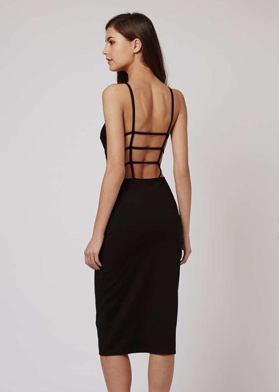 Незвичайна чорна сукня міді ASOS 67a2dc743959d