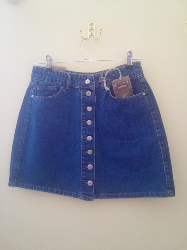 cddc0600b8cd Джинсовая юбка-трапеция на пуговицах турция размеры 34, 38, 40 за 430 грн.  | Шафа