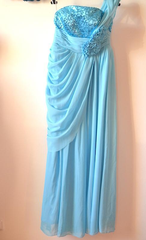 a2d8754c333 Шикарное бирюзовое платье в пол
