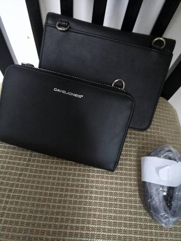 c959863f6558 ... Сумка через плечо / клатч + кошелек 2в1 фирмы david jones (5504b-2  black ...