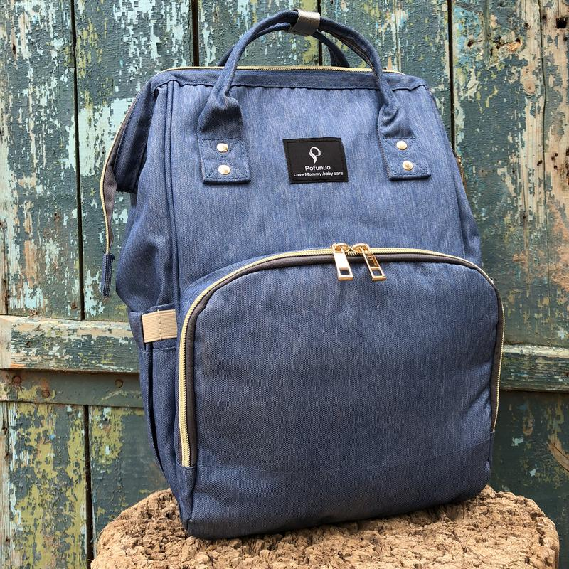33896a54cf8e 10% скидка к новому году! сумка рюкзак для мамы pofunuo в цвете джинс.