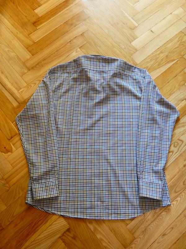 a393dd3eec0a952 Оригинальная мужская рубашка с длинным рукавом от today's man, 100% хлопок  (р.