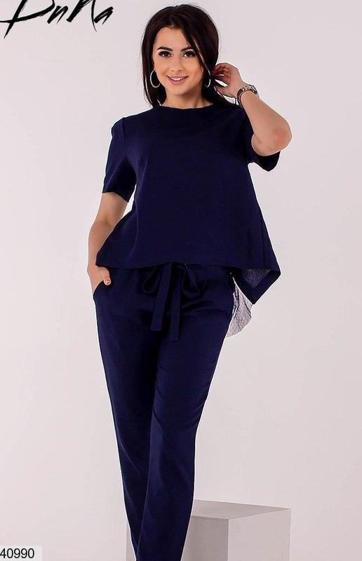 d119bede101ccc3 Женский костюм брючный летний лен размеры:42,44,46,48,50,52,54,56 ...