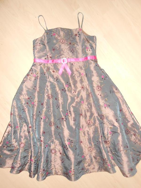 043d9332bac Пышное блестящее платье с вышивкой и пайетками на 7-9 лет.1 ...