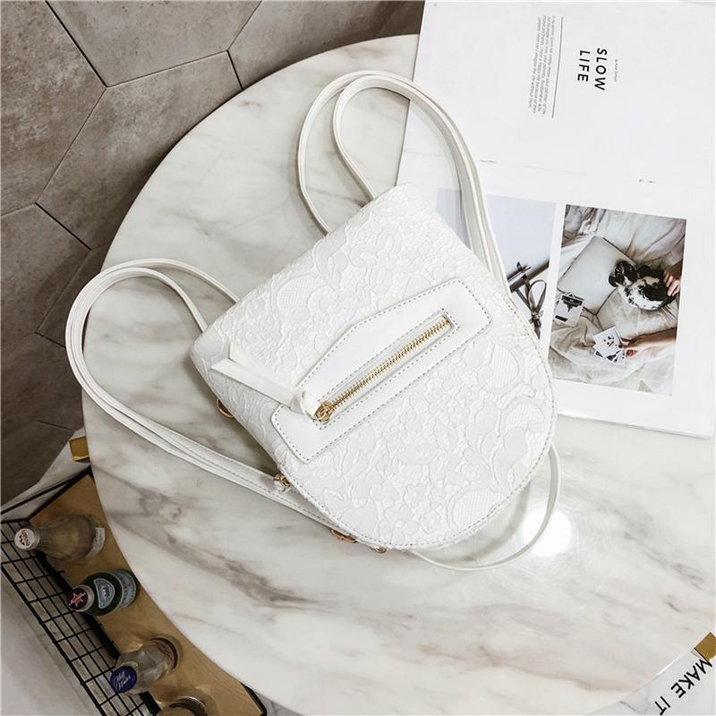 2f9ffd082827 ... Рюкзак женский белый из экокожи с кружевной отделкой нарядный2 фото ...