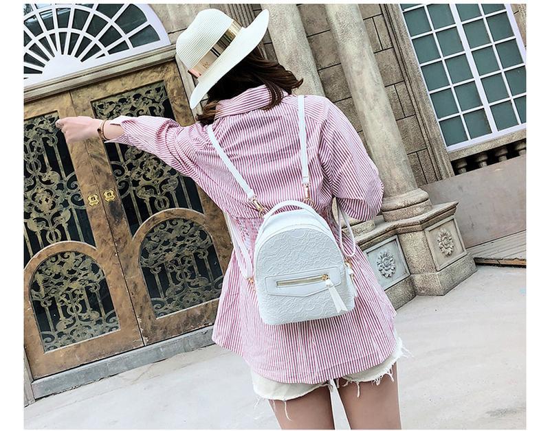 34878c8c6917 ... Рюкзак женский белый из экокожи с кружевной отделкой нарядный4 фото ...