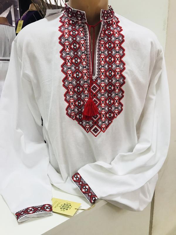 Мужская рубашка вышиванка чоловіча вишиванка розмір м 6d791b95d2756