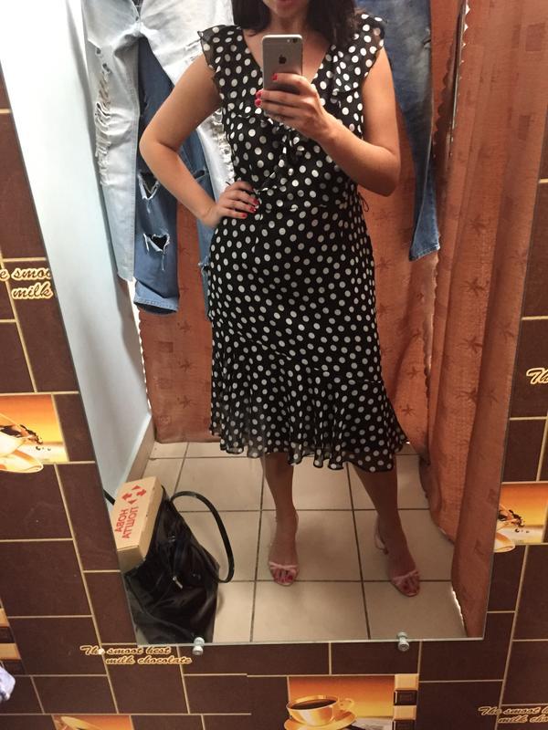 059c2d53574 Шикарное платье в горошек f f1 ...