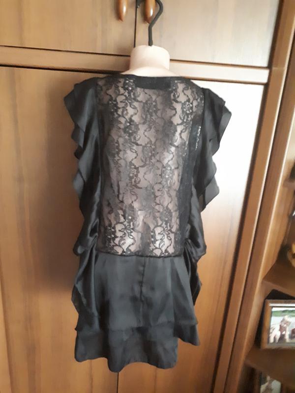 ffd36e83cfd Шикарная атласная блуза с ажурной кружевной спиной1 фото ...