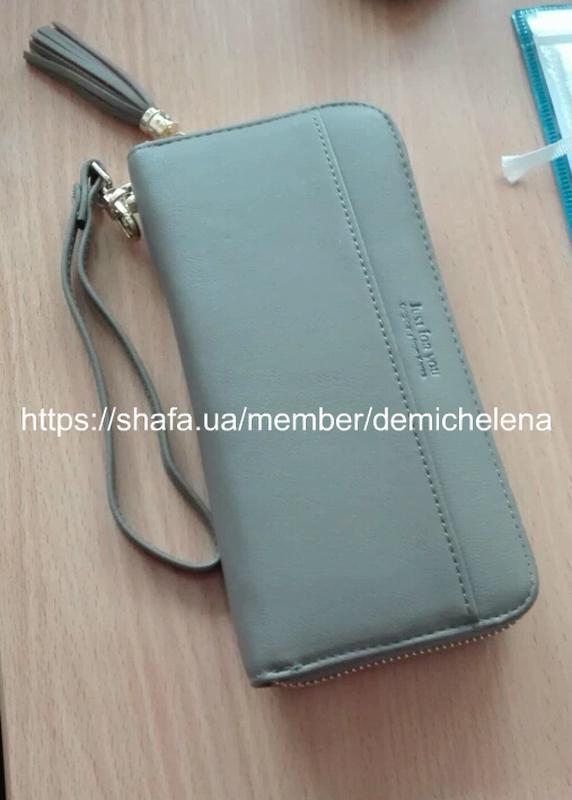 823b81692f99 Вместительный черный кошелек на замке, бумажник, портмоне Just For ...