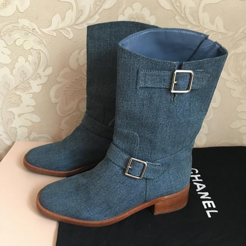 Chanel оригинал италия байкерские сапоги ботинки Chanel, цена ... 7149d628c97