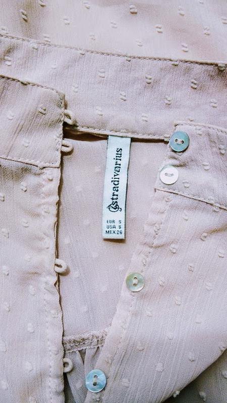 07597e8bd7b ... Шифоновая блузка блуза нюд пудрового цвета в горошек stradivarius5 фото