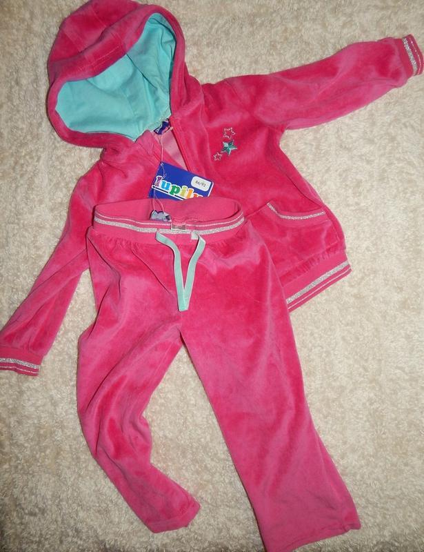 a6f9dd50 Стильный велюровый спортивный костюм на девочку, lupilu. размер 86/921 фото  ...