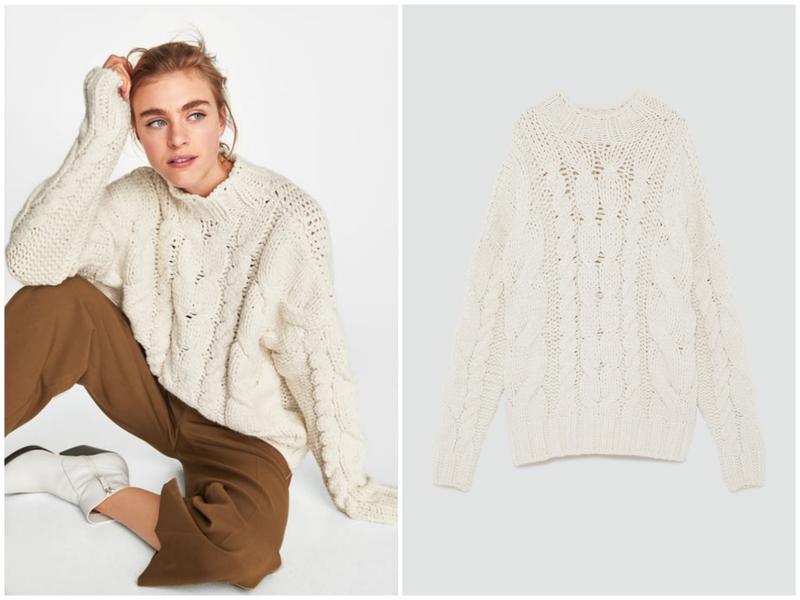 c91e046859a6 Роскошный объемный вязаный свитер - пуловер кремового цвета zara (ZARA) за  850 грн.