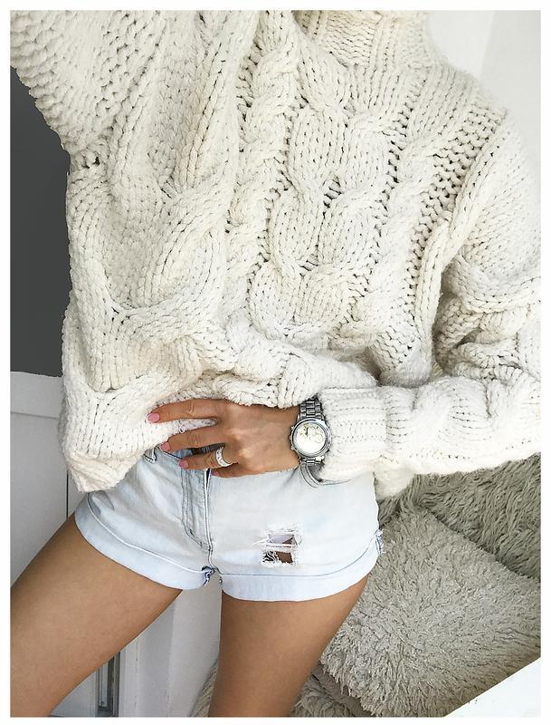 03a38eeec1a7 Роскошный объемный вязаный свитер - пуловер кремового цвета zara (ZARA) за  850 грн. | Шафа